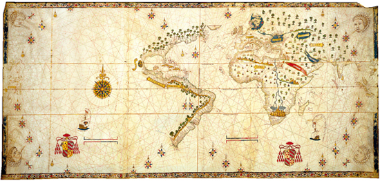 Empty maps the marriage of science and empire the scientific the salviati world map 1525 while the 1459 world map is full of continents islands and detailed explanations the salviati map is mostly empty gumiabroncs Gallery